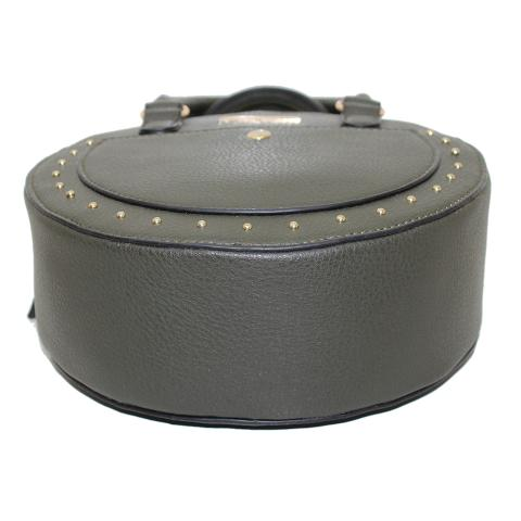 This small round purses featured with top zip pocket, front studs around and slip pocke, inner with zipper pocket,elegant and popular for young girls.