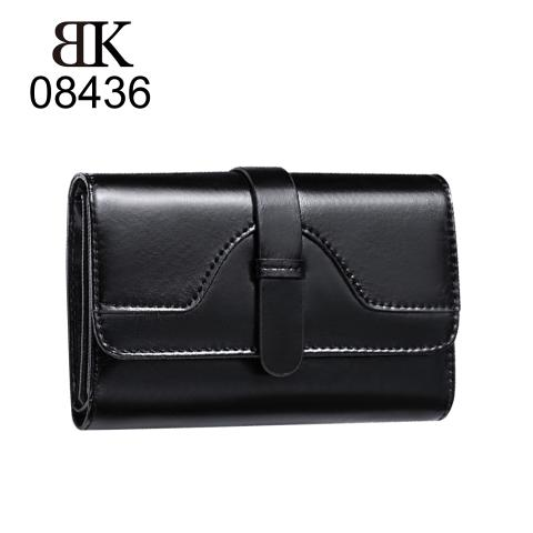 classic vintage wallets feature draw belt design, flap with magnetic snap closure, stitching evenly and multiple card slots and open pockets. look second layer leather material, enhance wallets tactile appeal.