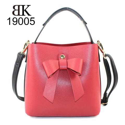 Cute custom lady tote handbag with bow hot sale