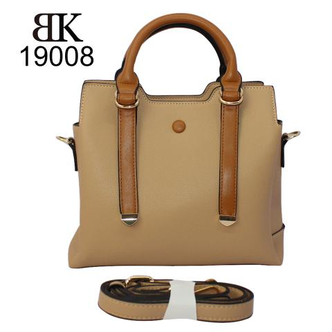Chic beige leather lady tote bags with strap