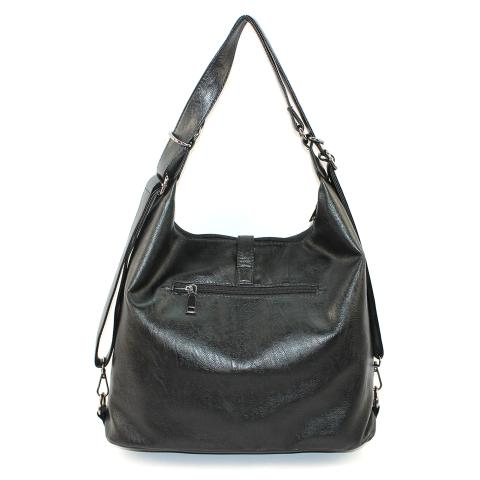 The large hobo bag feature adjustable top handles that can comfortable fit over your shoulder, exterior zip pockets on its back and top zip pocket to carry all of your necessities.