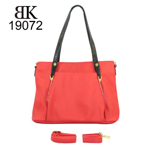 Manufacturer bright red tote bag for women custom