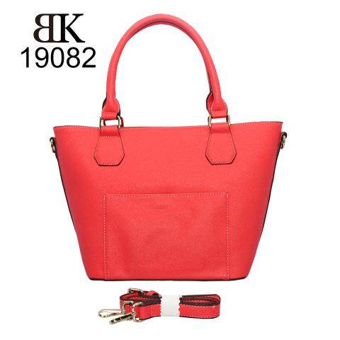latest red tote handbags with exterior pocket online