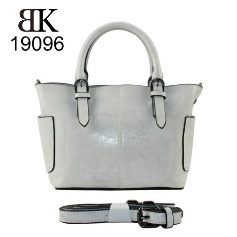 Chic glossy gray tote handbags online