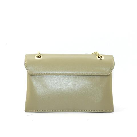 The fashion lemon chain bag is adorned with magnetic snap and metal ring, unregular style shows touch of chic and exquisite.