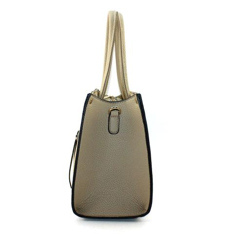 The lemon tote bag features light gold hardware, top handles, adjustable strap and exterior zip pocket to carry your key,lipstick and so on.