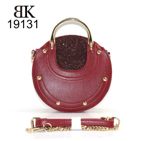 Most popular wine rivets glitter round tote bag