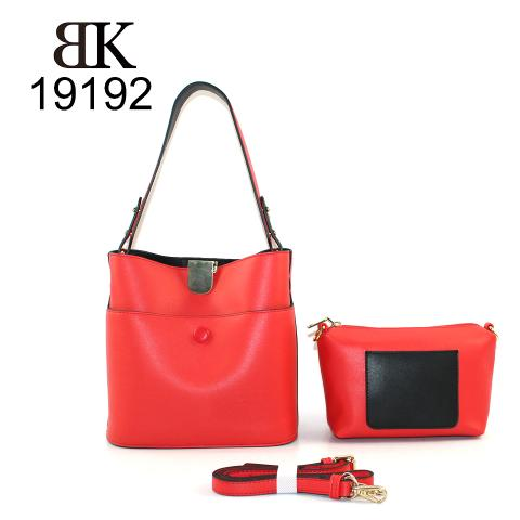 Cross body red hobo bags with inside removable small pouch