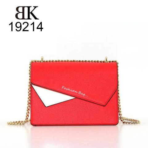 New style designer red irregular pieces faux leather shoulder bags for girls
