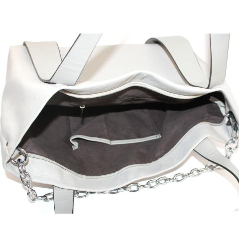 The fashion grey hobo bags feature top handles, silver hardware and front chains are perfect for work to date night. Exterior zip pocket to carry your keys, phone and make-up.