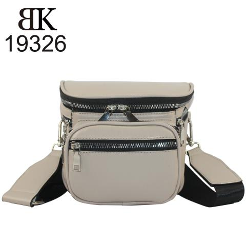 Khaki belt bags organiser collection with zippers