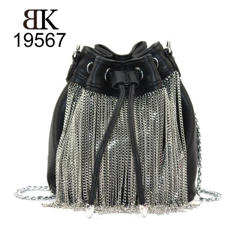 Pu leather chain shoulder bags for cool girl