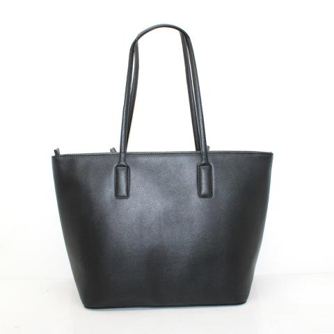 This large tote bag has plenty of space to carry all the daily essentials you'll need to get through your schedule.it crafted in the fake crocdile pu leather in front and smoonth black pu leather in back.top zipper closure, and two slip pockets with a zipper pocket inside.
