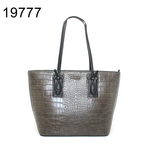 Croc-effect large shopper bag with knot detail