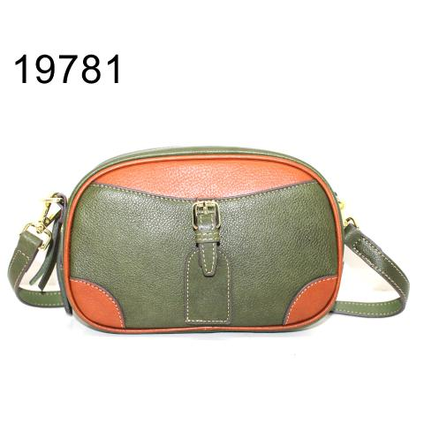 Cute green and brown camera bag with buckle detail