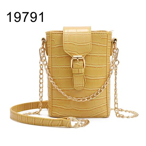 Wholesale mini phone bag with Small Crocodile-Embossed Leather