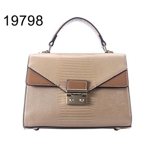 2021 ladies fashion shoulder bag with push-lock in front