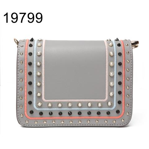 2020 cute rivets & fake Pearl shoulder bag manufacture