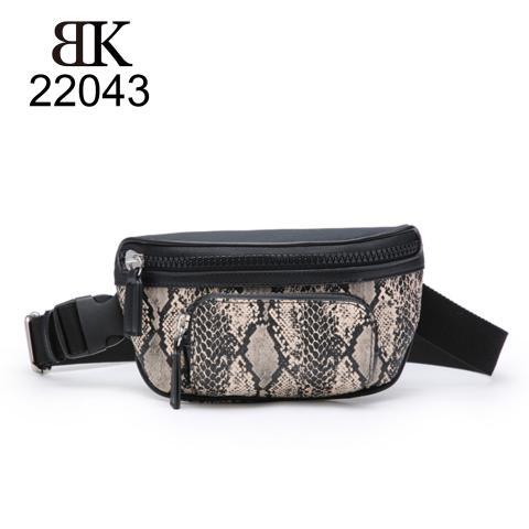 Popular snake-print waist bag hot sale