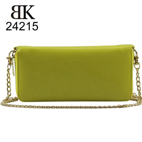 The bright yellow cute wallet comes with golden hardware, internal zipped pocket, multiple interior card slots and an external pocket, it also comes with a gold chain if you want to wear it across the body.